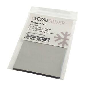 EC360® SILVER 12W/mK Wärmeleitpad (50 x 50 x 2,0 mm) I ThermalPad GPU RAM CPU