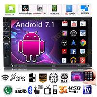 "7"" 2Din Quad Core Android7.1 Bluetooth GPS Navi Car MP5 Player Radio Stereo WIFI"