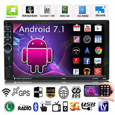 "7"" 2Din Quad Core Android7.1 Bluetooth GPS Navi Car MP5 Player Radio Stereo WIFI"