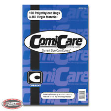 "100 - ComiCare CURRENT 3-Mil Polyethylene Comic Bags - 6-7/8"" x 10-1/2"""