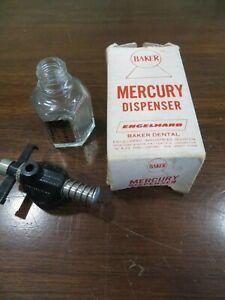 Baker Mercury Dispenser  Dental bottle & box equipment Engelhard obsolete