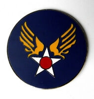 US ARMY AIR FORCE AIR CORPS LARGE USAAF LAPEL HAT PIN BADGE 1.5 INCHES