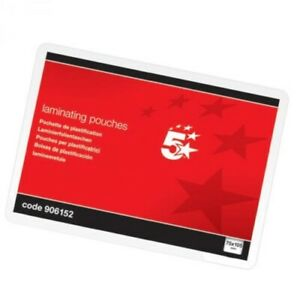 Laminating Pouches 5 Star (A7) Laminating Pouches Glossy 250 Micron Pack of 100
