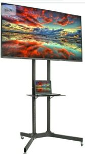 """VIVO Mobile TV Cart for 32"""" to 65"""" LCD LED Plasma Flat Panel Stand w/Wheels"""