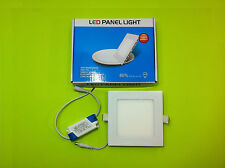 Led Light 9w 6500k Square Recessed Ceiling Panel Down Lights Fixture With Driver
