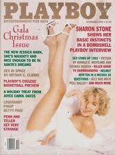 PLAYBOY DECEMBER 1992-A – SHARON STONE - BARBARA MOORE - BETTY PAGE NUDE!!!