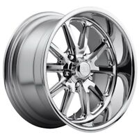 17x8 Us Mag Rambler U110 5x4.75 et1 Chrome Wheels (Set of 4)