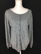 East 5th Women's XL Gray Polka Dot Button Down Cardigan Sweater