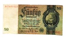 1933  NAZI Germany 50 Reichsmark Banknote