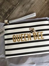 """LAST ONE! KATE SPADE """"DOWN THE RABBIT HOLE"""" CRYSTAL QUEEN BEE BELLA POUCH, NWT"""