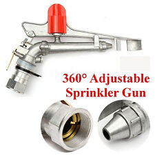 "Hot~1.5"" Adjustable Impact Sprinkler Gun Large Area Water Irrigation Spray Tools"