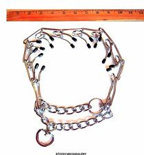 DOG TRAINING PRONG CHOKE CORRECTION PINCH COLLAR WITH RUBBER TIPS NEW