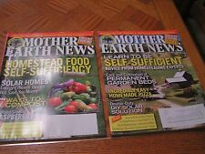 MOTHER EARTH NEWS MAGAZINE ~ 2 ISSUES 2012