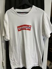 Authentic Supreme Comme Des Garcons CDG SHIRT Box Logo Tee White SS17 Size L