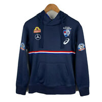 Asics Western Bulldogs Jumper Womens Size Medium Blue Hoodie Official AFL NWT