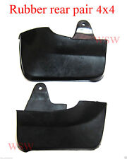 RUBBER REAR MUD FLAPS GUARD MUDFLAP ISUZU DMAX HOLDEN RODEO RA UTE 03-06-11 4WD