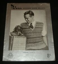 VINTAGE 1950s PATONS KNITTING BOOK # 273  MENS TOPS  JUMPERS