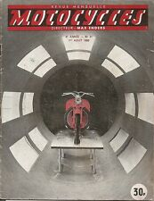 MOTO _ MOTOCYCLES revue bi-mensuelle _ N. 41 - AOUT 1950 _ LA MICROWETTURA F.C.B