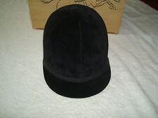 New Women's Kauffman Black Velvet Equestrian Riding Hat-6 7/8