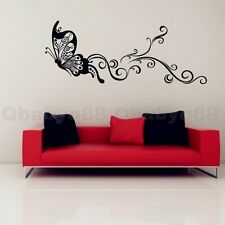 Butterfly Vine Wall decals Removable stickers home art kids nursery baby decor