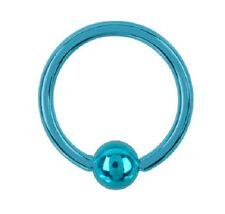 piercing micro anelli Blu 1.2x8x3 acciaio 316 L per Arcade naso capezzolo
