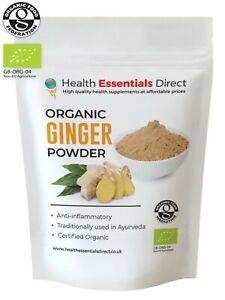 Organic Ginger Powder (Superior Sri-Lankan Roots, Digestion, Reflux) Choose Size