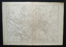 Antique Map: Leeds, Yorkshire, by Benjamin Davies, Weekly Dispatch Atlas, 1860