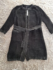 NUOVO Donna Superdry Zara cappotto lucido nero Taglia S