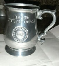 """Uaw pewter beer stein 4 1/2"""" tall Ohio state Cap Council"""