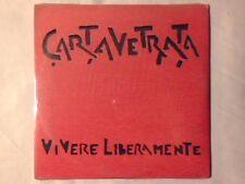 CARTAVETRATA Vivere liberamente cd singolo cdm SIGILLATO SEALED!!! CARTA VETRATA