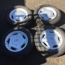 """VN CALAIS 15 X 6"""" ALLOY MAG WHEELS TYRES VP VR VS SET COMMODORE HOLDEN 92027452"""