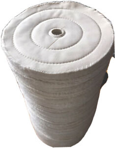 """Soft Buffing Extra Soft Wheel 10 inch With 7/8-1 inch Arbor Hole White Rouge 10"""""""