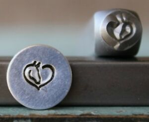 SUPPLY GUY 6mm Horse Heart Metal Punch Design Stamp SGCH-314