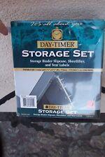 Day-Timer NEW Storage Set Binder 3 3/4 x 6 3/4  Portable Size Slipcase XMAS GIFT