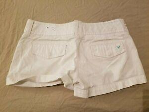 Womens American Eagle Outfitters Khaki Shorts 4  Cotton