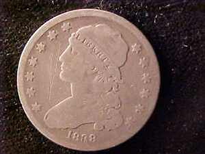 BUST 25 CENTS 1838 SCRATCHES