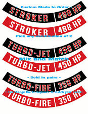 Chevy AIR CLEANER DECALS > Ribbons Only-Any Horsepower Rating   Made To Order!