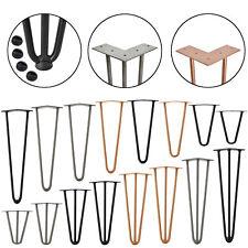 [en.casa]® 4x Hairpin Leg Tischbein Haarnadelbeine Tischkufen DIY Tischzubehör