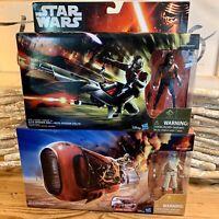 Star Wars Elite Speeder Bike with Stormtrooper Scout And Reys Speeder Bike Jakku