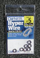 OWNER #5 HYPER WIRE SPLIT RINGS 60 LB/27KG 9PCS