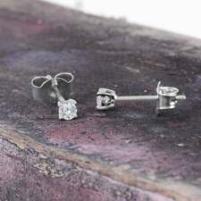 Real Diamond Stud Earrings 10K White Yellow Gold Women Jewelry 0.25 Ct Solitaire