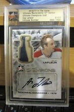 Guy LaFLEUR 1/1 Ultimate Memorabilia Game Used Worn AUTO 2CL Jersey Canadiens SP