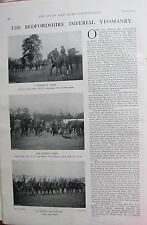 1902 PRINT ~ BEDFORDSHIRE IMPERIAL YEOMANRY CAPTAIN GEORGE EVANS COLONEL MILES