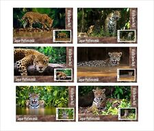JAGUAR WILD CATS  CAT 6 SOUVENIR SHEETS MNH UNPERFORATED ANIMALS FAUNA