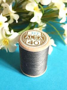 329B / Beautiful Coil Old Of DMC Thread Cotton Alsa N° 40 Grey N° 317