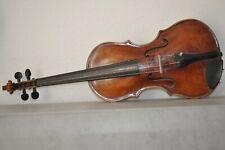 Alte  Geige  mit Zettel um 1900 !!!!!!!!!!!!!!!!