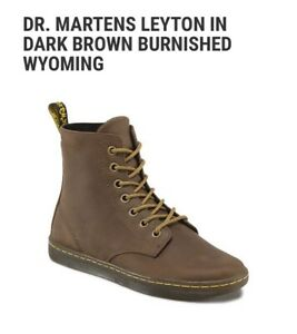 NEW DR Martens Peyton Boots Booties sz 8 Dark Brown 16616201 Burnished Wyoming