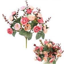 21 Köpfe Seidenblumen Kunstblumen Künstliche Blumenstrauß Floristik Blumen