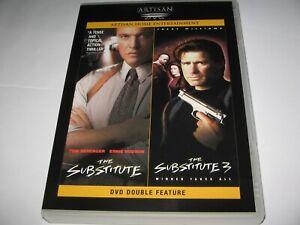 THE SUBSTITUTE (1996) TOM BERENGER  & THE SUBSTITUTE 3 (1999) RARE REGION 1 DVD