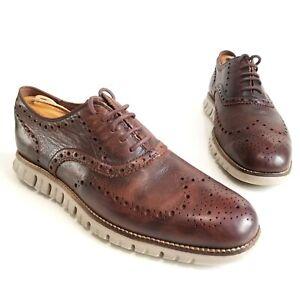 COLE HAAN Original Zerogrand WingTip Oxfords Brown Leather Shoes Mens Size 9 M